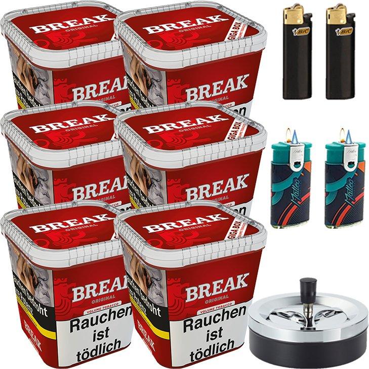 Break Original 6 x 230g mit Aschenbecher