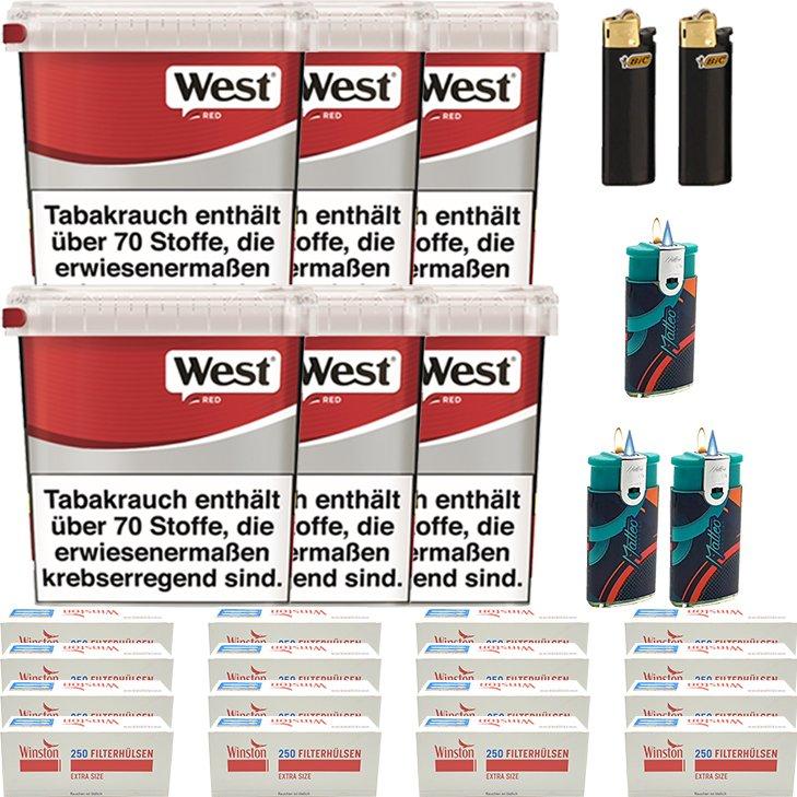 West Red 6 x 260g mit 4000 Extra Size Hülsen