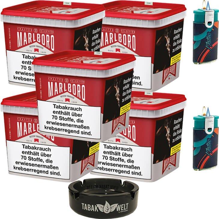 Marlboro Crafted Selection 5 x 300g mit Glasaschenbecher