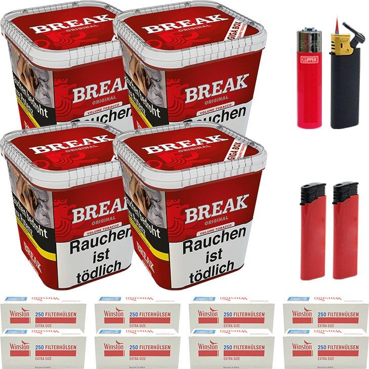 Break Original 4 x 230g mit 2000 Special Size Hülsen