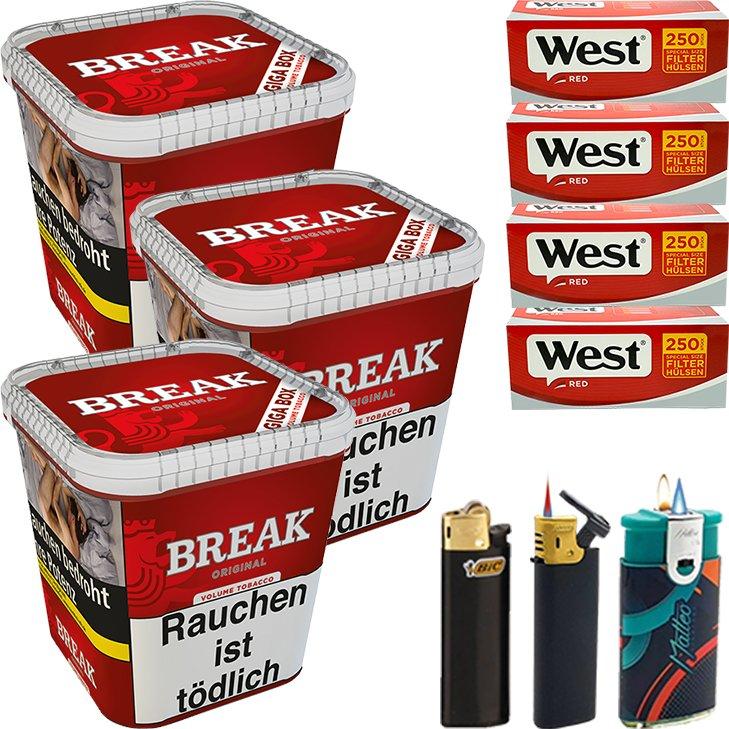 Break Original 3 x 230g mit 1000 Special Size Hülsen