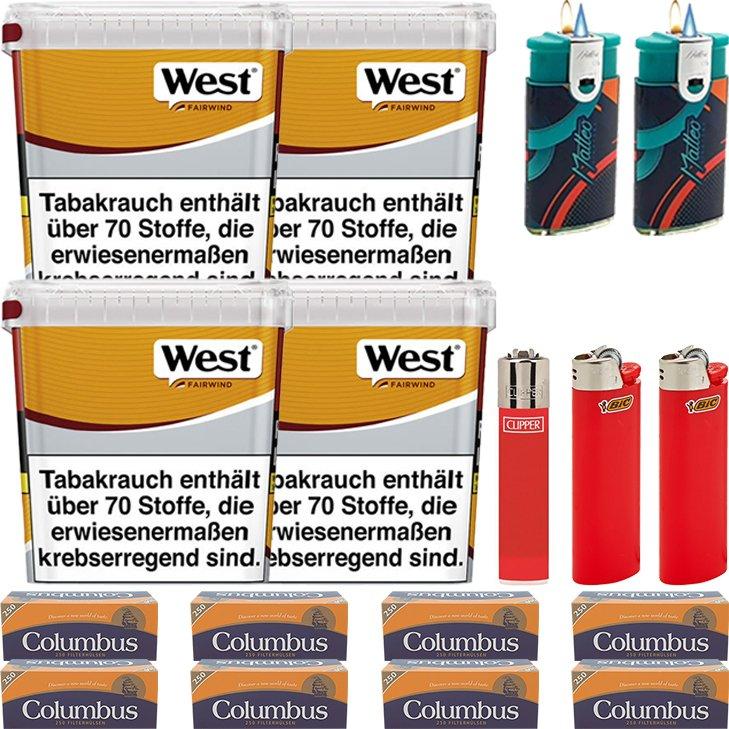 West Yellow Fairwind 4 x 310g mit 2000 Hülsen
