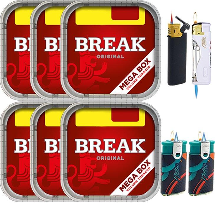 Break Original 6 x 170g mit Feuerzeuge