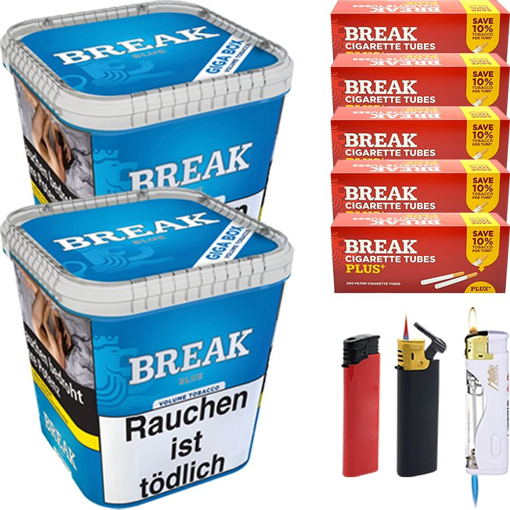 Break Blue 2 x 230g mit 1000 Plus Hülsen