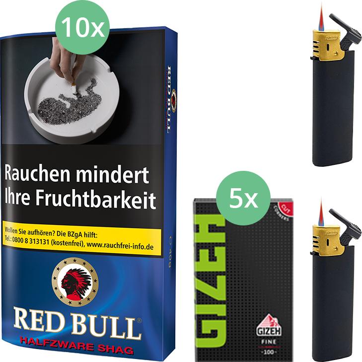 Red Bull Halfzware Shag 10 x 40g mit Gizeh Blättchen