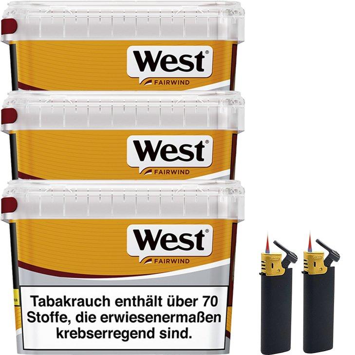 West Yellow Fairwind 3 x 185g mit Feuerzeugen