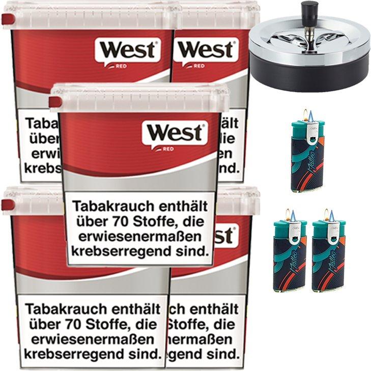 West Red 5 x 260g mit Aschenbecher
