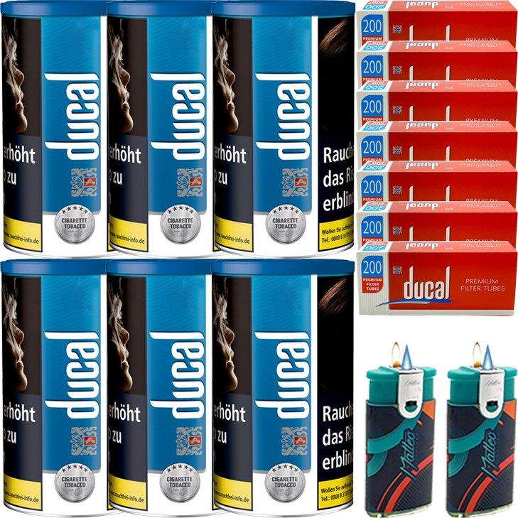 Ducal Blue 6 x 200g mit 1400 King Size Filterhülsen