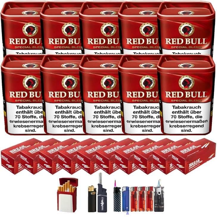 Red Bull Special Blend 10 x 120g Feinschnitt 2000 Filterhülsen Uvm.