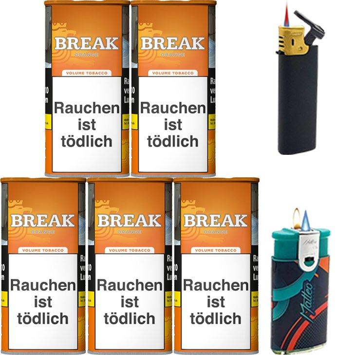 Break Orange 5 x 110g mit Feuerzeugen