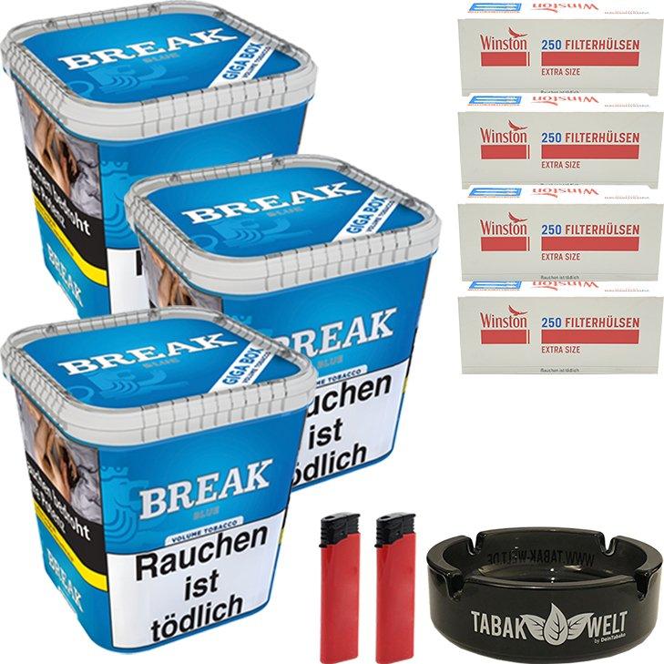 Break Blue 3 x 230g mit 1000 Extra Size Hülsen