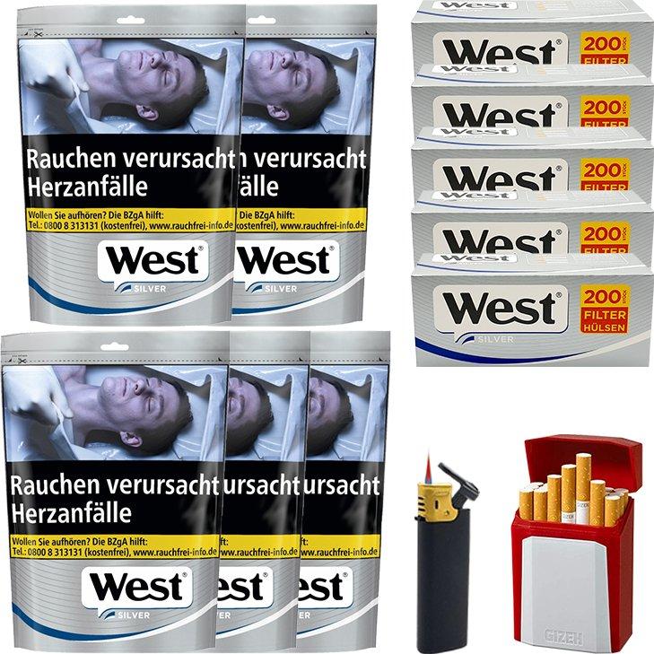 West Silver 5 x 96g mit 1000 Silver Hülsen
