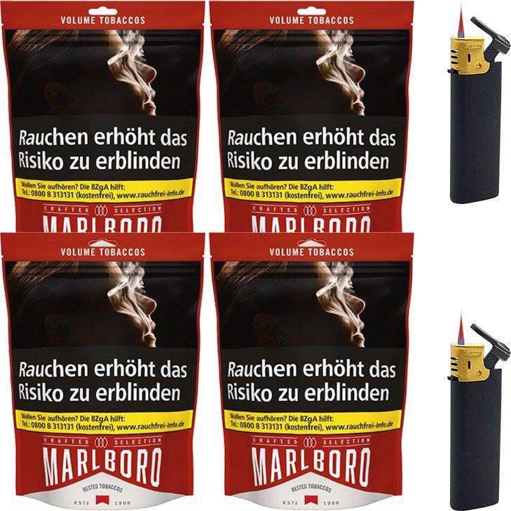 Marlboro Crafted Selection 4 x 130g mit Feuerzeugen
