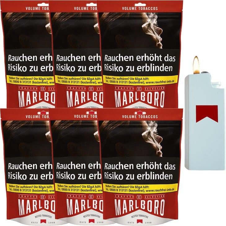 Marlboro Crafted Selection 6 x 130g mit Feuerzeug