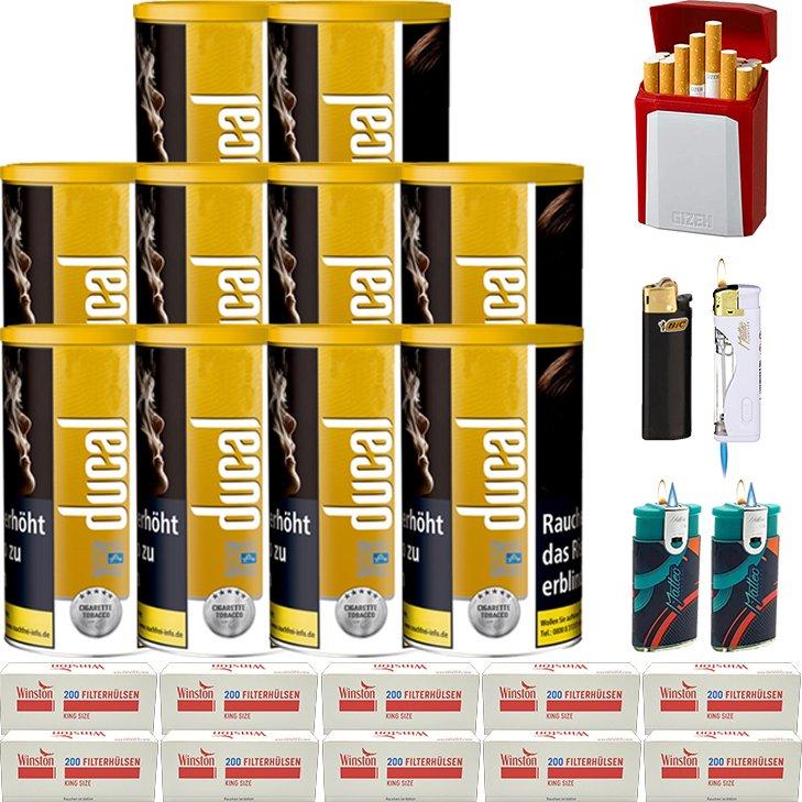 Ducal Gold 10 x 200g mit 2000 King Size Filterhülsen