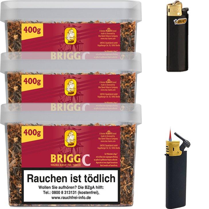 Brigg Cherry 3 x 400g mit Feuerzeugen