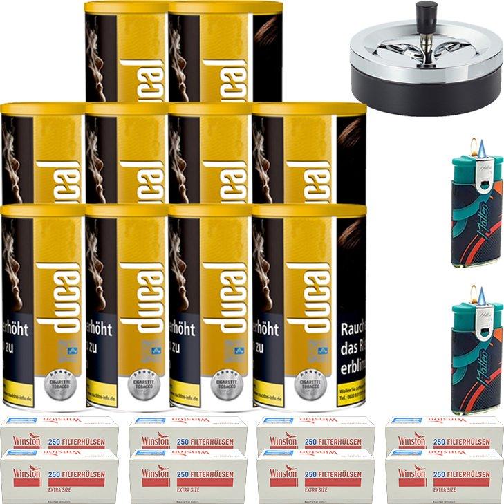 Ducal Gold 10 x 200g mit 2000 Special Size Filterhülsen