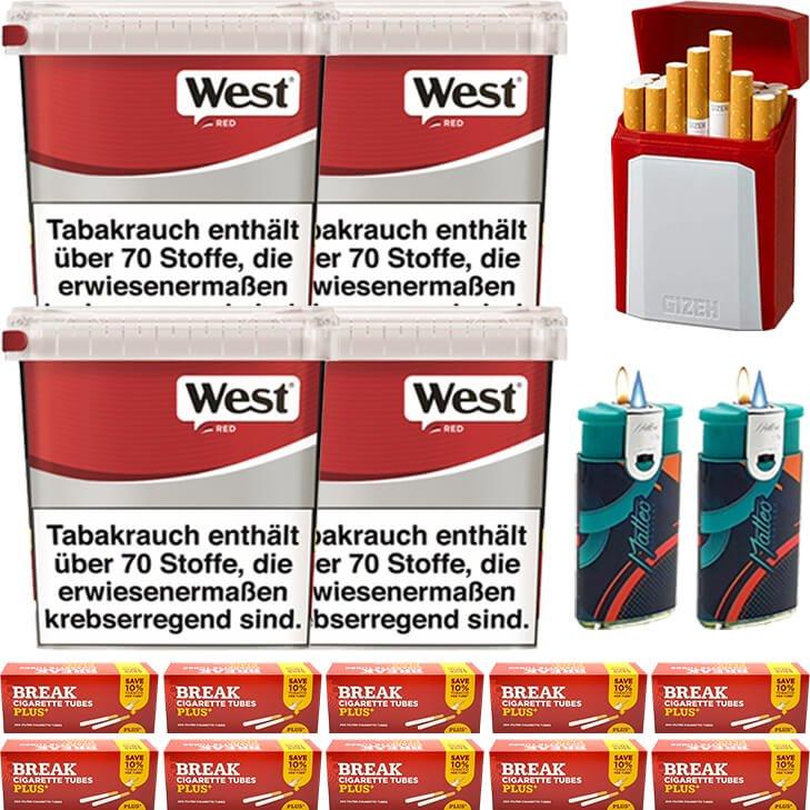 West Red 4 x 260g mit 2000 Plus Hülsen