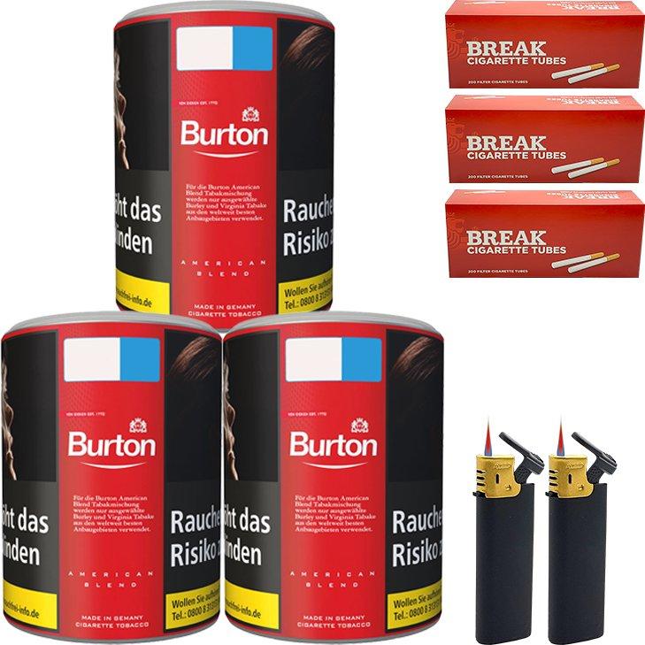 Burton Original 3 x 120g mit 600 King Size Hülsen