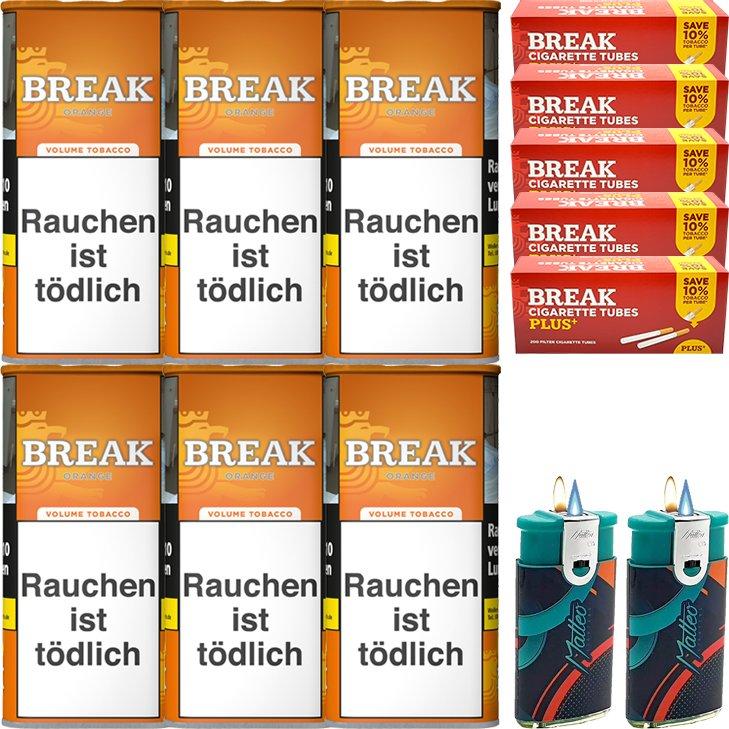 Break Orange 6 x 110g mit 1000 Plus Hülsen