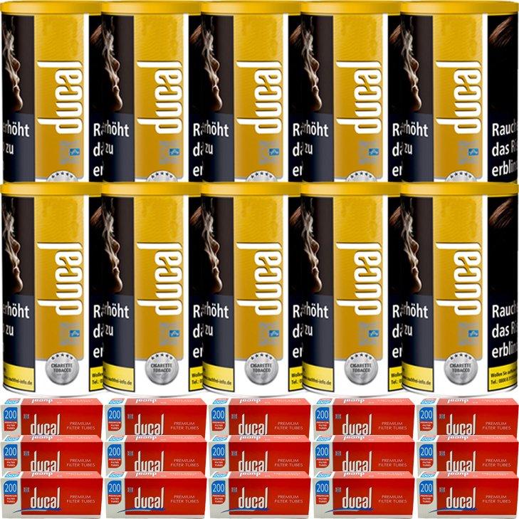 Ducal Gold 10 x 200g mit 3000 King Size Filterhülsen