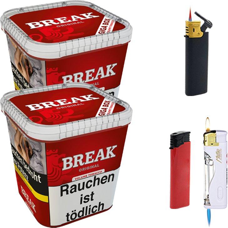 Break Original 2 x 230g mit Feuerzeugen