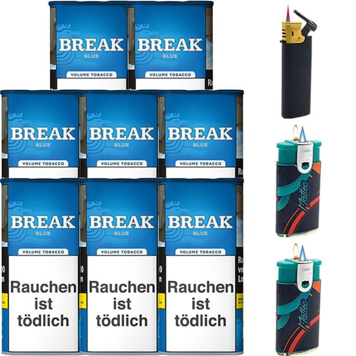Break Blue / Blau 8 x 115g mit Feuerzeuge