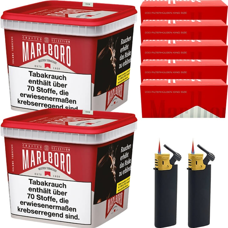 Marlboro Crafted Selection 2 x 300g mit 1000 King Size Hülsen