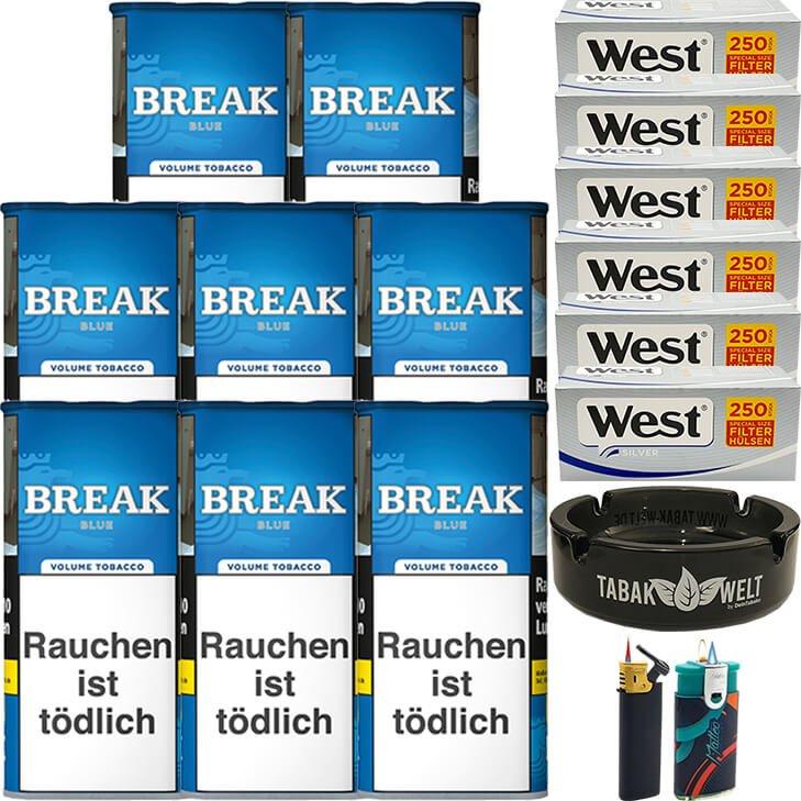 Break Blue / Blau 8 x 115g mit 1500 Silver Special Size Hülsen