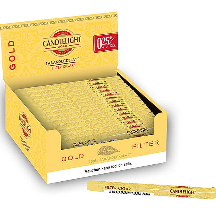 Candlelight Filterzigarillo Gold / Vanille Fresh Pack 12,50 €
