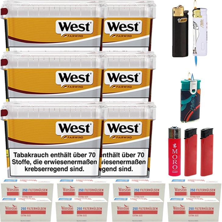 West Yellow Fairwind 6 x 185g mit 2000 Special Size Hülsen