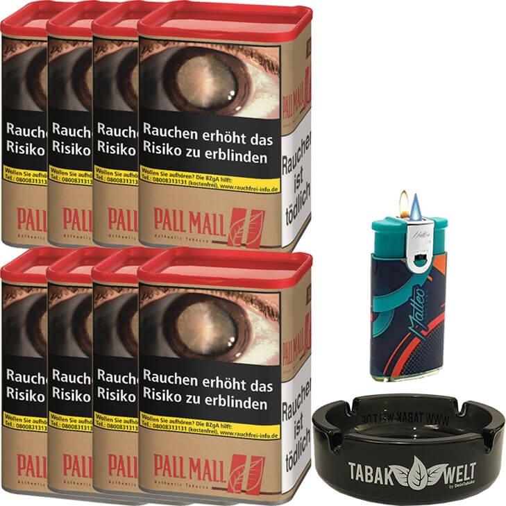 Pall Mall Authentic Red 8 x 55g mit Feuerzeug