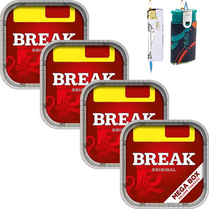 Break Original 4 x 170g mit Feuerzeuge