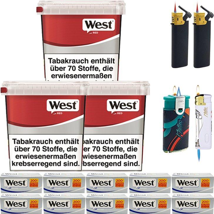 West Red 3 x 260g mit 2000 Silver Hülsen