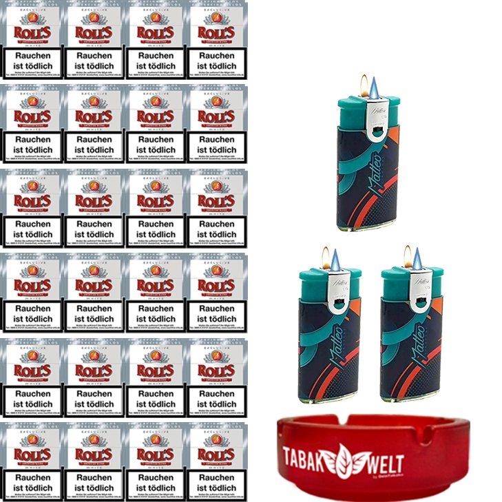 Rolls Exclusive White Zigarillos mit Filter (6 Stangen) 48 x 23 Stück