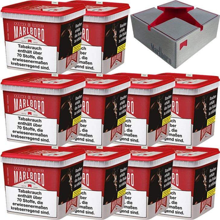 Marlboro Crafted Selection 10 x 300g mit Aschenbecher Metall