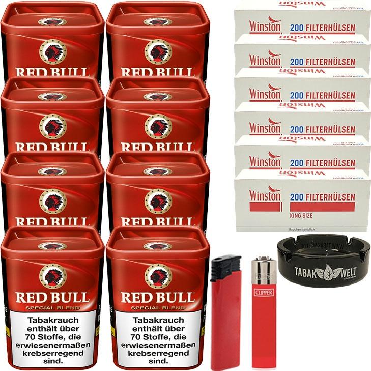 Red Bull Special Blend 8 x 120g mit 1400 King Size Hülsen