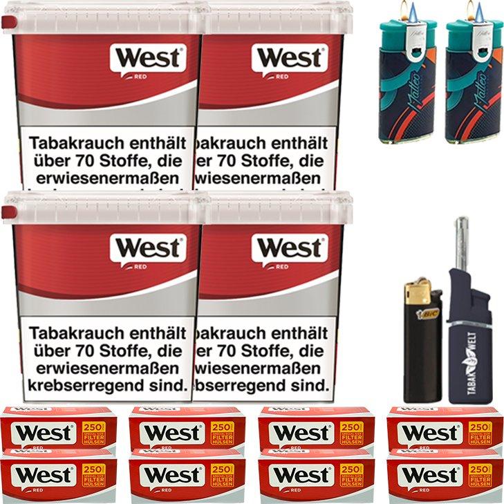 West Red 4 x 260g mit 2000 Special Size Hülsen