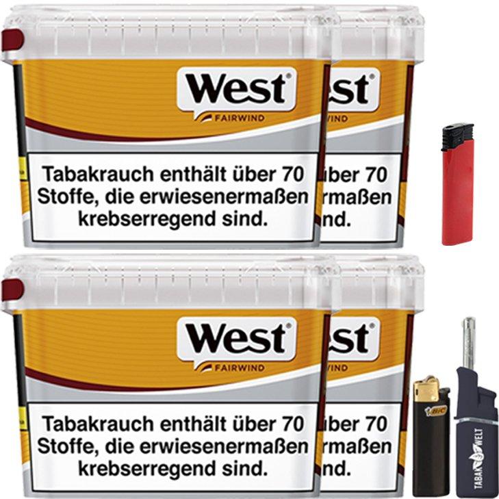 West Yellow Fairwind 4 x 185g mit Feuerzeugen