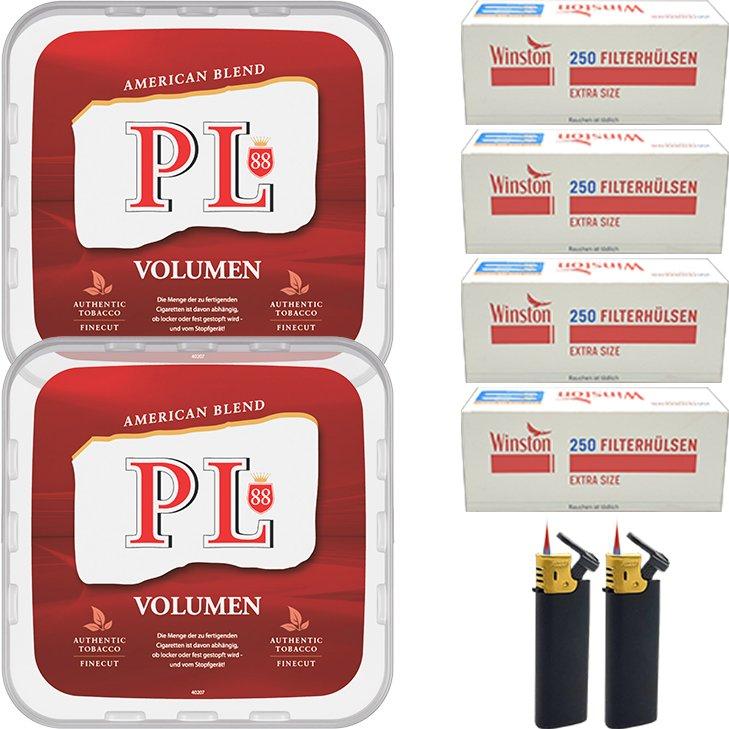 PL88 Red 2 x 365g mit 1000 Extra Size Hülsen
