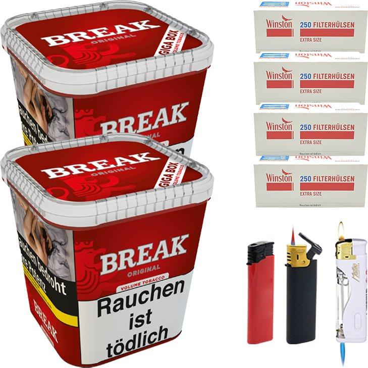 Break Original 2 x 230g mit 1000 Extra Size Hülsen
