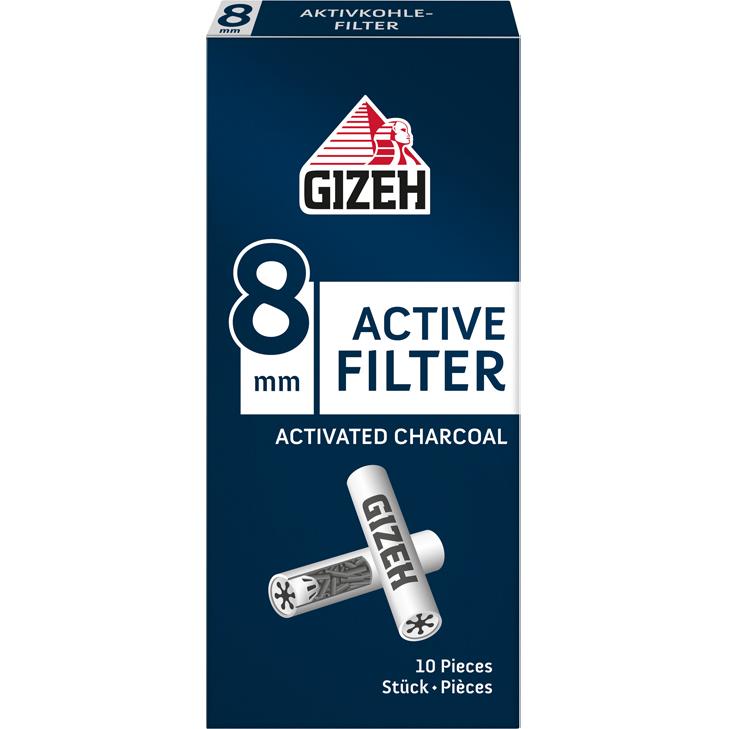 Gizeh Active Filter 8 mm 10 Stück