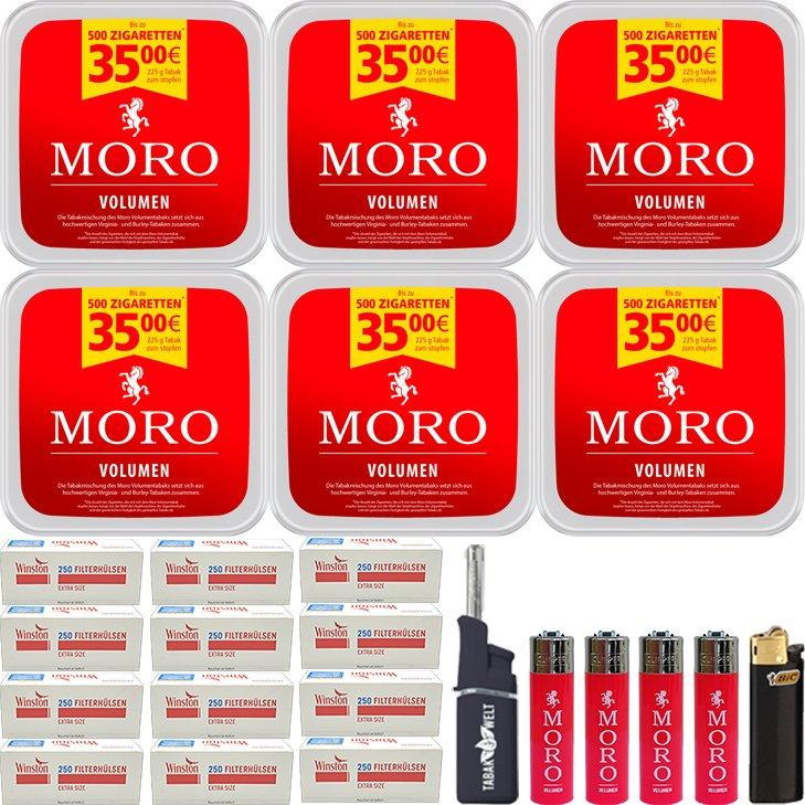Moro Volumen 6 x 225g mit 3000 Special Size Hülsen