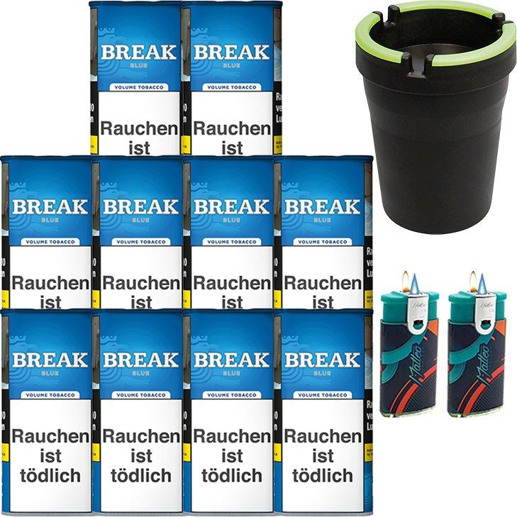 Break Blue / Blau10 x 115g mit Aschenbecher