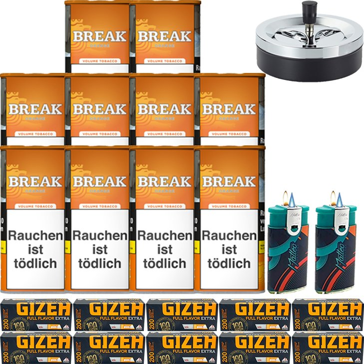 Break Orange 10 x 110g mit 2000 Extra Hülsen