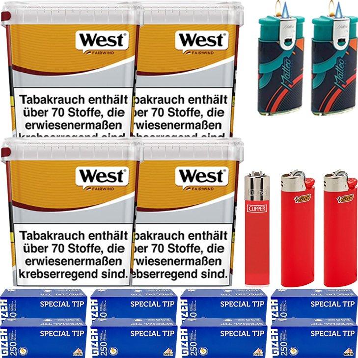 West Yellow Fairwind 4 x 310g mit 2000 King Size Hülsen