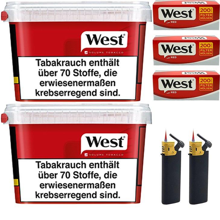 West Red 2 x 155g mit 600 King Size Hülsen