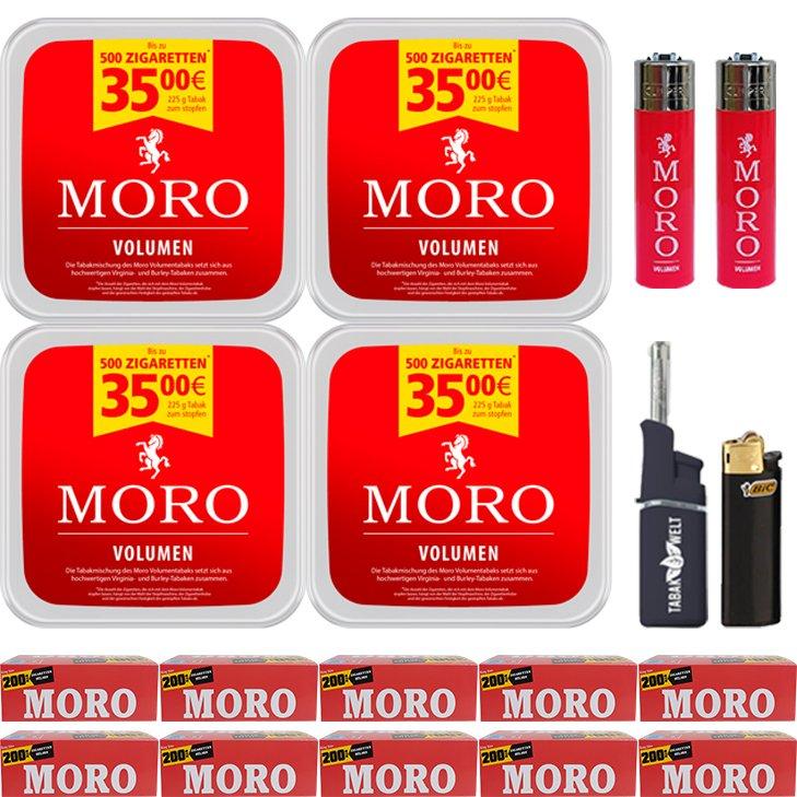 Moro Volumen 4 x 225g mit 2000 Hülsen