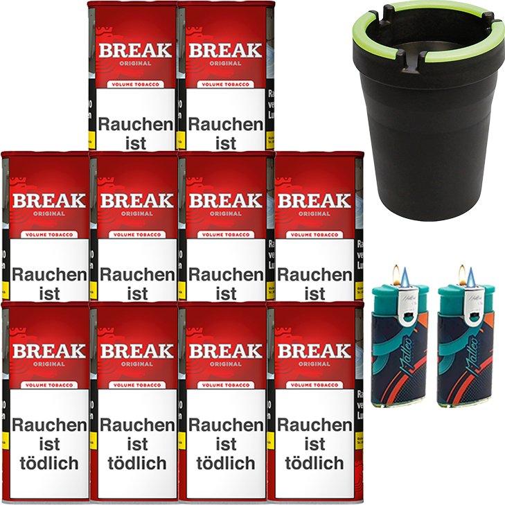 Break Original 10 x 115g mit Auto Aschenbecher