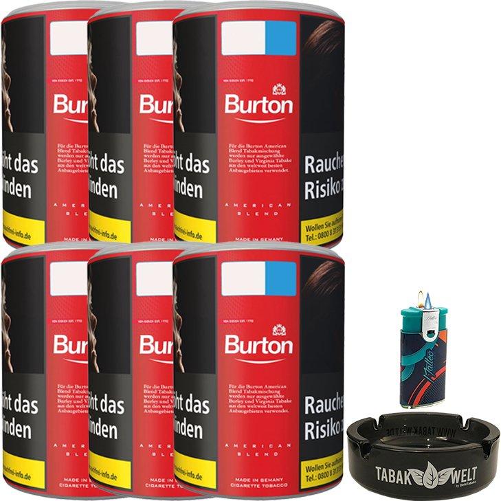 Burton Original 6 x 120g mit Glasaschenbecher